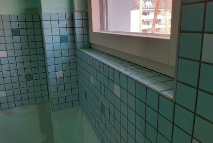 Verlegung von Mosaikfliesen in Bauvorhaben Krefeld